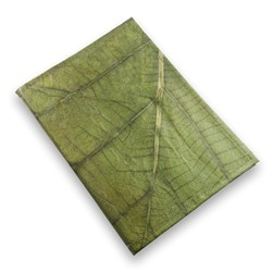 A5 Leaf Notebook Green