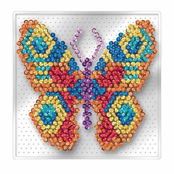 Sequin Art Pin-Free Butterfly