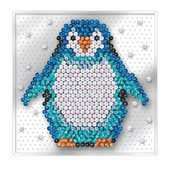 Sequin Art Pin-Free Penguin