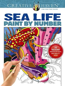 Creative Haven Sea Life Paint by Number by George Toufexis