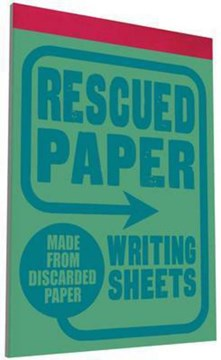 Rescued Paper Writing Sheets by Sukie