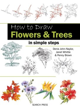 How to draw flowers & trees in simple steps by Jane Whittle