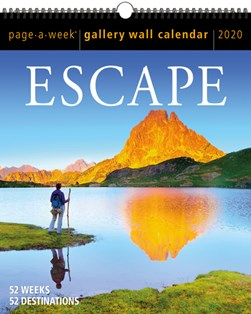 Escape Page-A-Week Gallery Wall Calendar 2020 by Workman Calendars