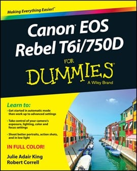 Canon EOS Rebel T6i / 750d for dummies by Julie Adair King