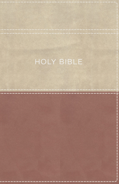 KJV, Apply the Word Study Bible, Large Print, Leathersoft, Pink/Cream,  Thumb Indexed, Red Letter Edition