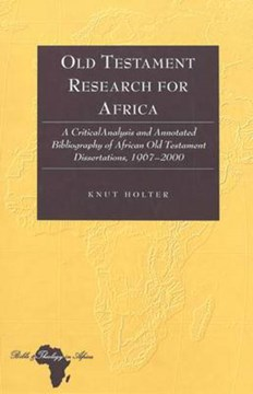 Old Testament research for Africa by Knut Holter