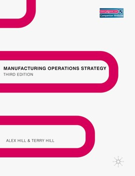 Manufacturing operations strategy by Alex Hill