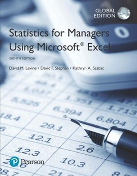 Statistics for managers using Microsoft Excel by David M Levine