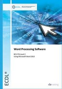 Word processing software using Microsoft Word 2013. BCS ITQ level 2