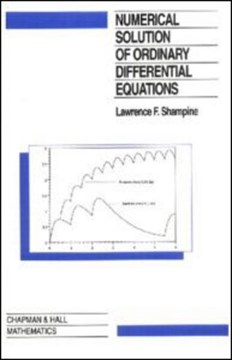 Numerical solution of ordinary differential equations by L.F. Shampine