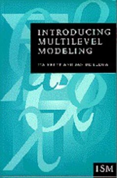 Introducing multilevel modeling by Ita G G Kreft