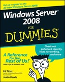 Windows Server 2008 for dummies