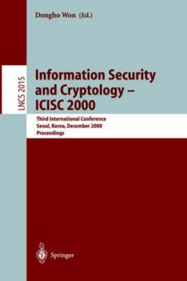 Information security and cryptology - ICISC 2000 by Dongho Won