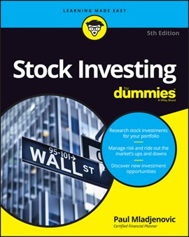 Stock investing for dummies by Paul J Mladjenovic