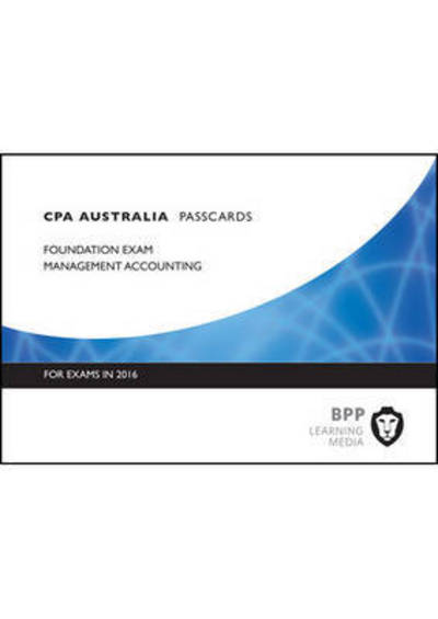 CPA Australia, for exams in 2016  Foundation exam Management