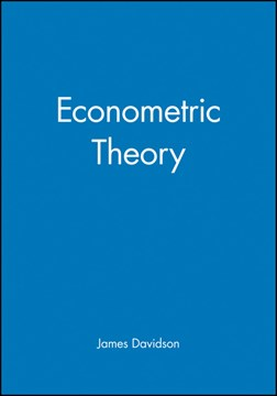 Econometric theory by James Davidson