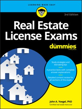 Real estate license exams for dummies by John A Yoegel