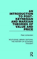 An introduction to post-Keynesian and Marxian theories of value and price