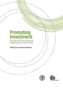 Promoting investment in agriculture for increased production and productivity by Saifullah Syed