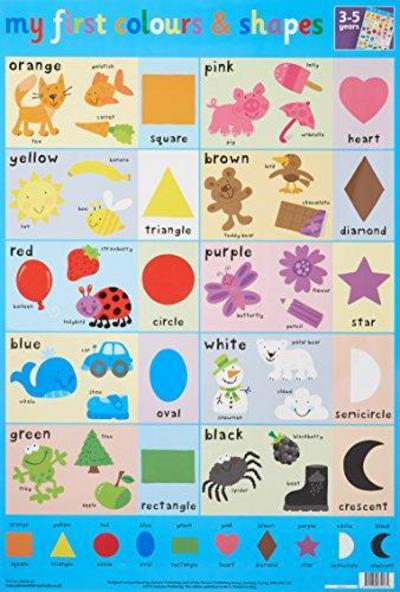 Colours Shapes Wall Chart Fs