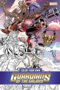 Color Your Own Guardians Of The Galaxy by Valerio Schiti
