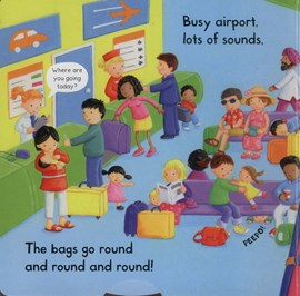Busy airport by Rebecca Finn