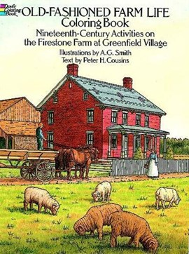 Old-Fashioned Farm Life Colouring Book by A.G.;Cousins Smith