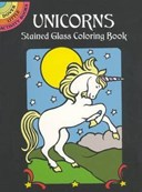 Unicorns Stained Glass Colouring BO