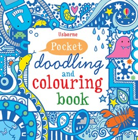 Blue Book Pocket Doodling & Colouring Book by Non Figg