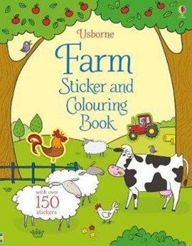 Farm Sticker and Colouring Book by Sam Taplin