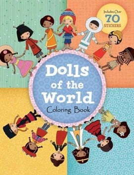 Dolls of the World Coloring Book by Jessica Secheret