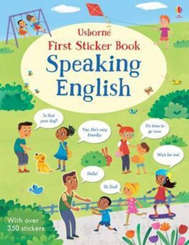 First Sticker Book Speaking English by Mairi Mackinnon