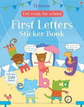 Get Ready for School First Letters Sticker Book by Jessica Greenwell