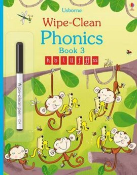 Wipe-Clean Phonics: Book 3 by Mairi Mackinnon