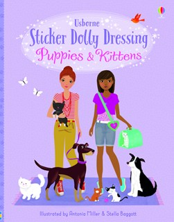 Sticker Dolly Dressing Puppies and Kittens by Fiona Watt