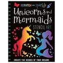 Scratch and Sparkle Unicorns and Mermaids Stencil Art