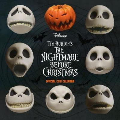 nightmare before christmas official 2018 calendar square wall format