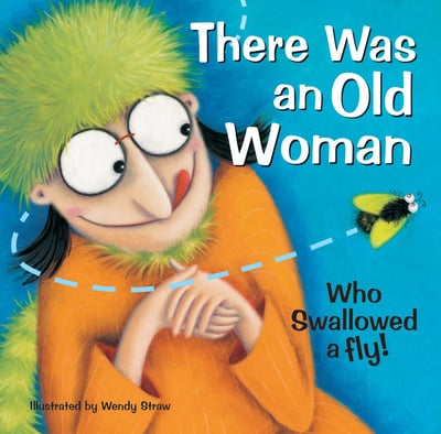 there was an old woman who swallowed a fly brolly books