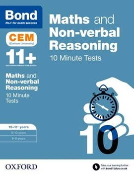 Maths & non-verbal reasoning. 10-11 years CEM 10 minute tests by Michellejoy Hughes