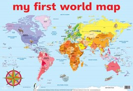 My First World Map Wall Chart (Fs) by