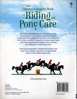 The Usborne complete book of riding and pony care by Rosie Dickins