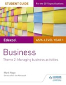 Edexcel AS/A-Level Year 1 business. Theme 2 Student guide