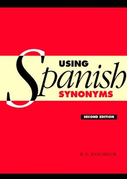 Using Spanish synonyms by R. E. Batchelor