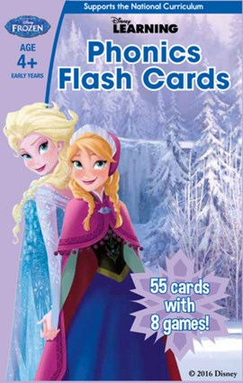 Frozen: Phonics Flash Cards by