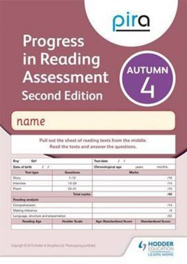 PiRA Test 4, Autumn Pack 10 - 2ED (Progress in Reading Assessment) by Colin McCarty