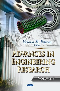 Advances in Engineering Research by Victoria M Petrova