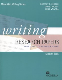 Writing research papers by Dorothy E Zemach