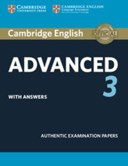 Cambridge English advanced 3. Student's book with answers by