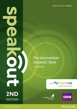 Speakout Pre-Intermediate 2nd Edition Students' Book with DVD-ROM and MyEnglishLab Access Code Pack by Antonia Clare