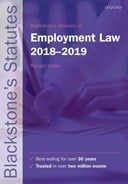 Blackstone's statutes on employment law 2018-2019